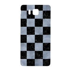 Square1 Black Marble & Silver Paint Samsung Galaxy Alpha Hardshell Back Case by trendistuff
