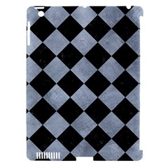 Square2 Black Marble & Silver Paint Apple Ipad 3/4 Hardshell Case (compatible With Smart Cover) by trendistuff