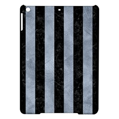 Stripes1 Black Marble & Silver Paint Ipad Air Hardshell Cases by trendistuff