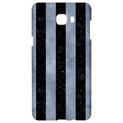 Stripes1 Black Marble & Silver Paint Samsung C9 Pro Hardshell Case  by trendistuff