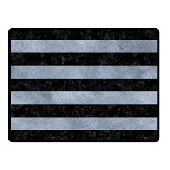 Stripes2 Black Marble & Silver Paint Double Sided Fleece Blanket (small)  by trendistuff