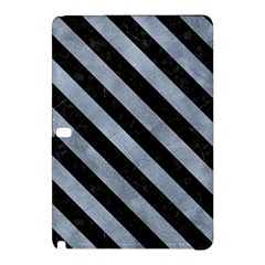 Stripes3 Black Marble & Silver Paint Samsung Galaxy Tab Pro 12 2 Hardshell Case by trendistuff