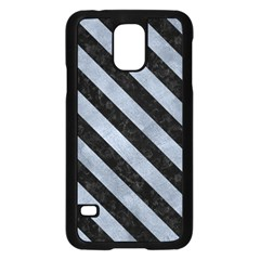 Stripes3 Black Marble & Silver Paint Samsung Galaxy S5 Case (black) by trendistuff