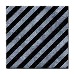 Stripes3 Black Marble & Silver Paint (r) Face Towel by trendistuff