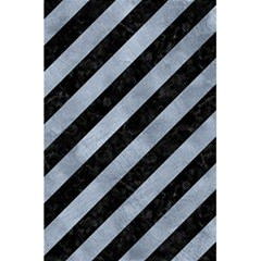 Stripes3 Black Marble & Silver Paint (r) 5 5  X 8 5  Notebooks by trendistuff