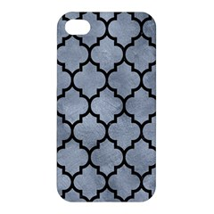 Tile1 Black Marble & Silver Paint Apple Iphone 4/4s Hardshell Case by trendistuff