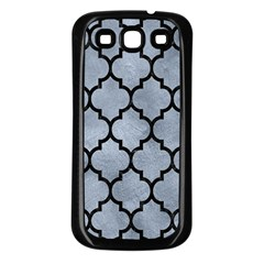 Tile1 Black Marble & Silver Paint Samsung Galaxy S3 Back Case (black) by trendistuff