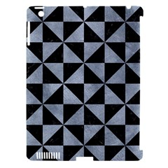 Triangle1 Black Marble & Silver Paint Apple Ipad 3/4 Hardshell Case (compatible With Smart Cover) by trendistuff