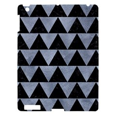 Triangle2 Black Marble & Silver Paint Apple Ipad 3/4 Hardshell Case by trendistuff