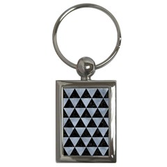 Triangle3 Black Marble & Silver Paint Key Chains (rectangle)  by trendistuff