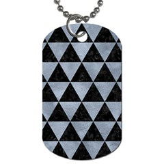 Triangle3 Black Marble & Silver Paint Dog Tag (one Side) by trendistuff