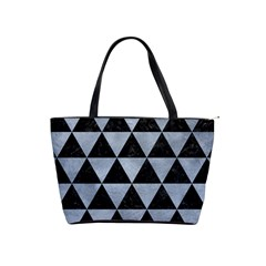 Triangle3 Black Marble & Silver Paint Shoulder Handbags by trendistuff