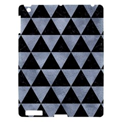 Triangle3 Black Marble & Silver Paint Apple Ipad 3/4 Hardshell Case by trendistuff