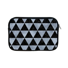 Triangle3 Black Marble & Silver Paint Apple Ipad Mini Zipper Cases by trendistuff