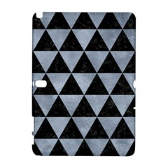 Triangle3 Black Marble & Silver Paint Galaxy Note 1 by trendistuff