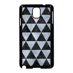 Triangle3 Black Marble & Silver Paint Samsung Galaxy Note 3 Neo Hardshell Case (black) by trendistuff