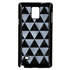 Triangle3 Black Marble & Silver Paint Samsung Galaxy Note 4 Case (black) by trendistuff
