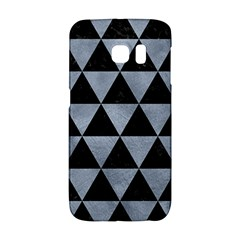 Triangle3 Black Marble & Silver Paint Galaxy S6 Edge by trendistuff