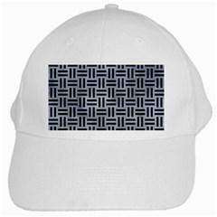 Woven1 Black Marble & Silver Paint White Cap by trendistuff