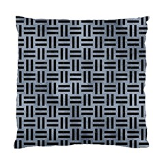 Woven1 Black Marble & Silver Paint Standard Cushion Case (one Side) by trendistuff