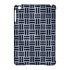 Woven1 Black Marble & Silver Paint Apple Ipad Mini Hardshell Case (compatible With Smart Cover) by trendistuff