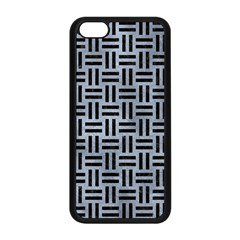 Woven1 Black Marble & Silver Paint Apple Iphone 5c Seamless Case (black) by trendistuff