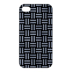 Woven1 Black Marble & Silver Paint (r) Apple Iphone 4/4s Hardshell Case by trendistuff