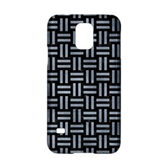 Woven1 Black Marble & Silver Paint (r) Samsung Galaxy S5 Hardshell Case  by trendistuff