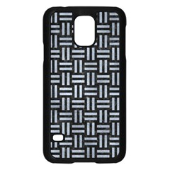 Woven1 Black Marble & Silver Paint (r) Samsung Galaxy S5 Case (black) by trendistuff