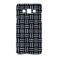 Woven1 Black Marble & Silver Paint (r) Samsung Galaxy A5 Hardshell Case  by trendistuff
