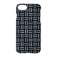 Woven1 Black Marble & Silver Paint (r) Apple Iphone 8 Hardshell Case