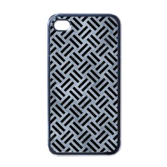 Woven2 Black Marble & Silver Paint Apple Iphone 4 Case (black) by trendistuff