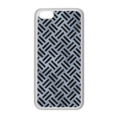 Woven2 Black Marble & Silver Paint Apple Iphone 5c Seamless Case (white) by trendistuff