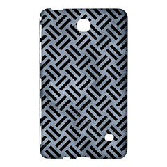 Woven2 Black Marble & Silver Paint Samsung Galaxy Tab 4 (8 ) Hardshell Case  by trendistuff