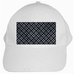 Woven2 Black Marble & Silver Paint (r) White Cap by trendistuff