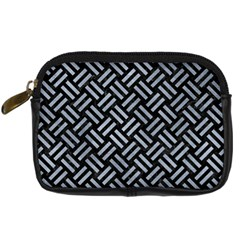 Woven2 Black Marble & Silver Paint (r) Digital Camera Cases by trendistuff