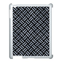 Woven2 Black Marble & Silver Paint (r) Apple Ipad 3/4 Case (white) by trendistuff