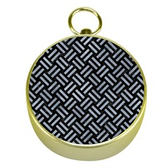 Woven2 Black Marble & Silver Paint (r) Gold Compasses by trendistuff