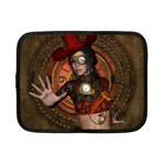 Steampunk, Wonderful Steampunk Lady Netbook Case (Small)  Front