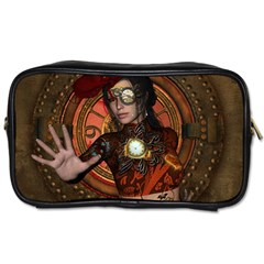 Steampunk, Wonderful Steampunk Lady Toiletries Bags by FantasyWorld7