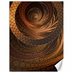 Brown, Bronze, Wicker, And Rattan Fractal Circles Canvas 18  X 24   by jayaprime