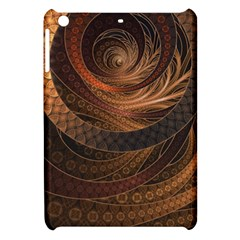 Brown, Bronze, Wicker, And Rattan Fractal Circles Apple Ipad Mini Hardshell Case by jayaprime