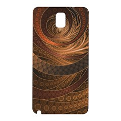 Brown, Bronze, Wicker, And Rattan Fractal Circles Samsung Galaxy Note 3 N9005 Hardshell Back Case by jayaprime