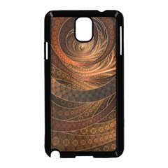 Brown, Bronze, Wicker, And Rattan Fractal Circles Samsung Galaxy Note 3 Neo Hardshell Case (black) by jayaprime