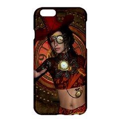 Steampunk, Wonderful Steampunk Lady Apple Iphone 6 Plus/6s Plus Hardshell Case by FantasyWorld7