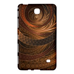 Brown, Bronze, Wicker, And Rattan Fractal Circles Samsung Galaxy Tab 4 (8 ) Hardshell Case  by jayaprime