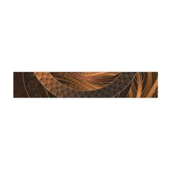 Brown, Bronze, Wicker, And Rattan Fractal Circles Flano Scarf (mini) by jayaprime
