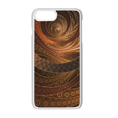 Brown, Bronze, Wicker, And Rattan Fractal Circles Apple Iphone 8 Plus Seamless Case (white)