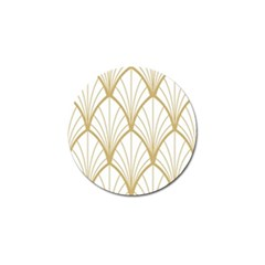 Art Deco, Beautiful,fan Pattern, Gold,white,vintage,1920 Era, Elegant,chic,vintage Golf Ball Marker (4 Pack) by 8fugoso