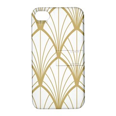 Art Deco, Beautiful,fan Pattern, Gold,white,vintage,1920 Era, Elegant,chic,vintage Apple Iphone 4/4s Hardshell Case With Stand by 8fugoso